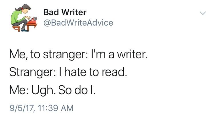 Help Pick Bad Writer's BestTweet